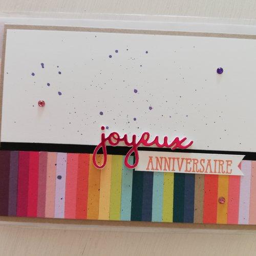 """Carte d'anniversaire """"joyeux anniversaire"""""""