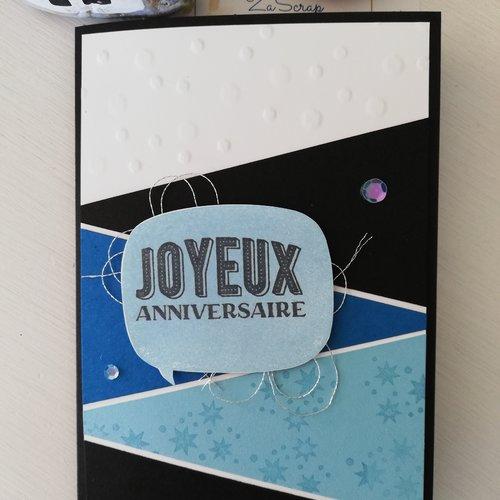 """Carte d'anniversaire """"joyeux anniversaire"""" thème harry potter"""