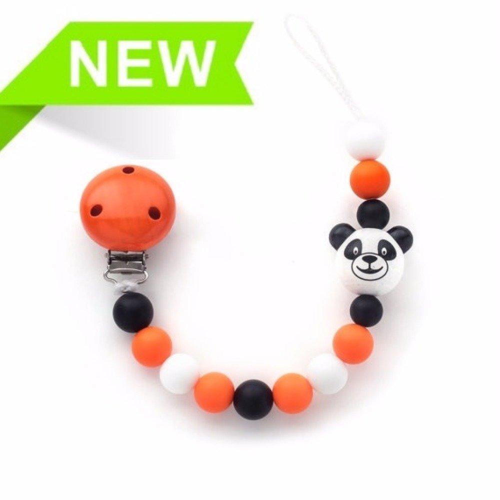Attache tetine silicone  panda