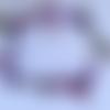 Chaîne de cheville perles et rubans mauve / violet