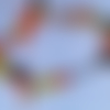 Chaîne de cheville perles et rubans jaune/ orange