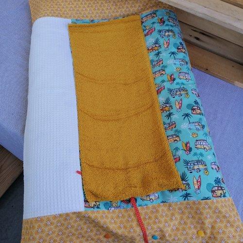 Housse de matelas avec le tapis éponge