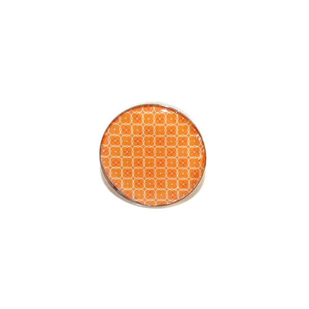 Bague carton recyclé Orange Petites fleurs - Bijoux recyclés