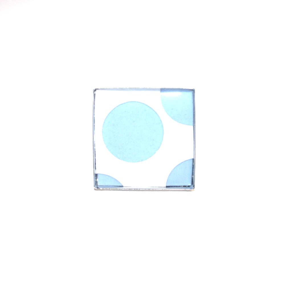 Bague plastique recyclées Pois Bleu et Blanc - Bijoux recyclés