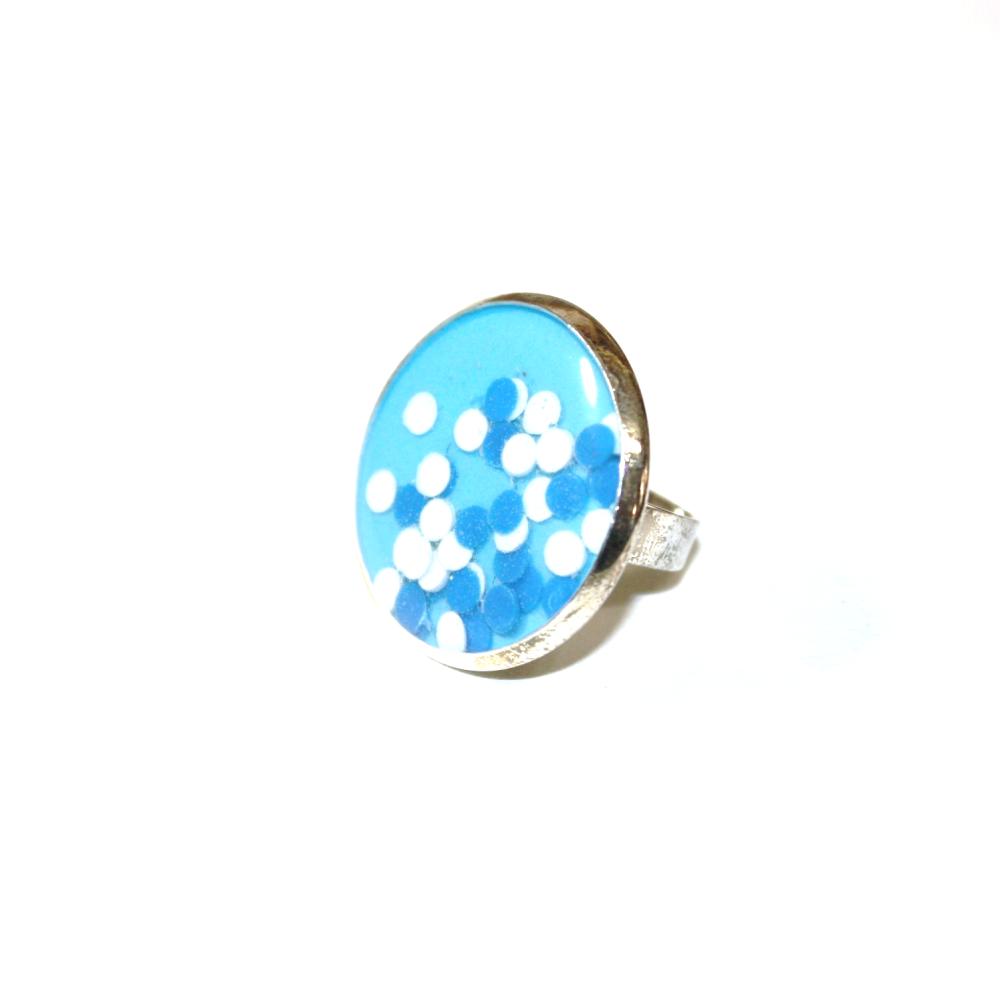 Boucles d'oreilles plastique recyclé BLEU PM - Bijoux recyclés