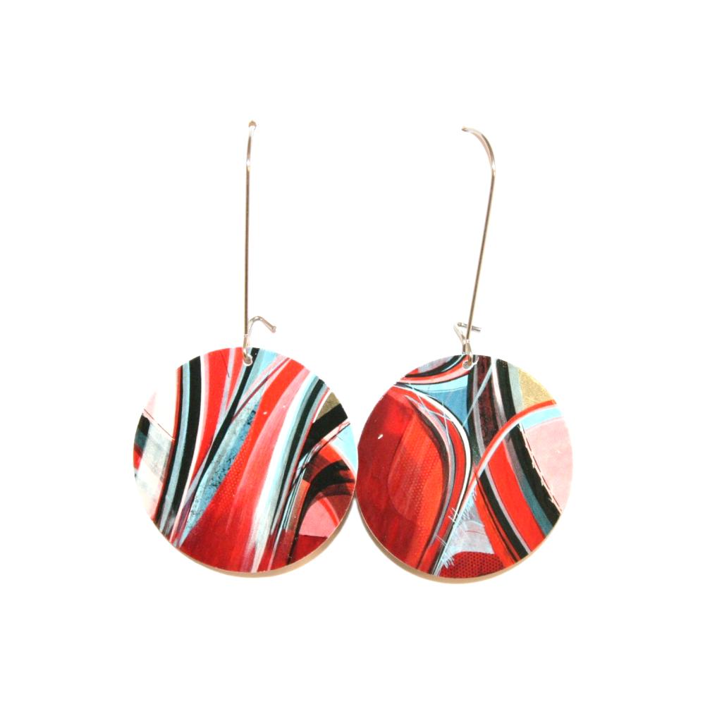 Boucles d'oreilles carton recyclé STREET ART - Bijoux recyclés