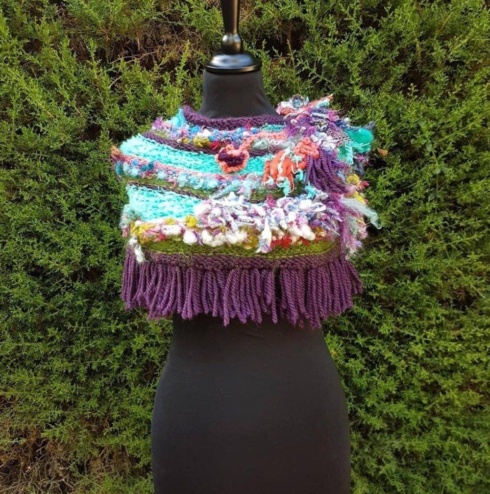 Col snood en laines filées mains