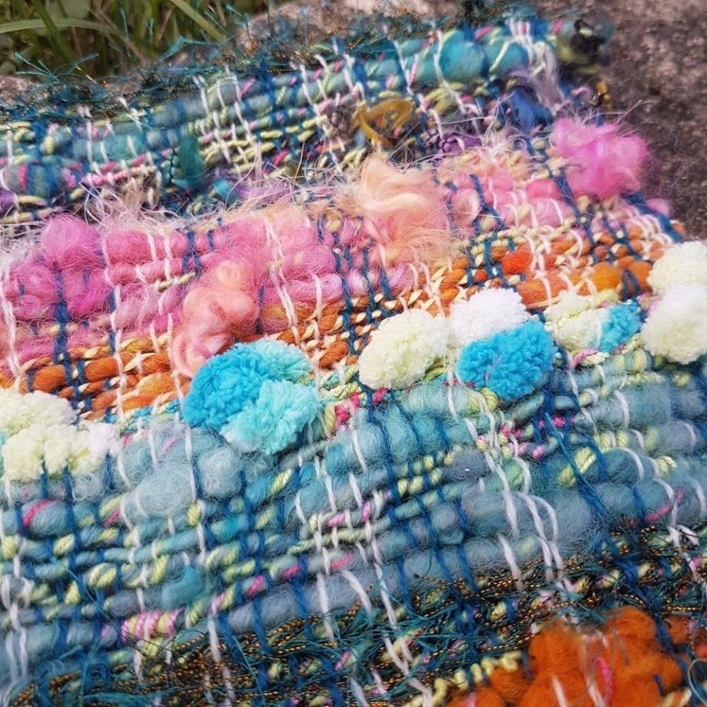 Tissage bohème laines filées mains