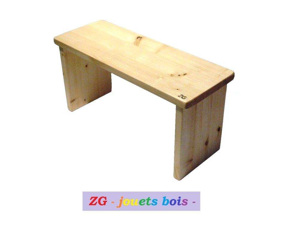 Banc de prière, siège de méditation, en bois de pin, assise droite, repose jambes, outil méditation et prière, fait main