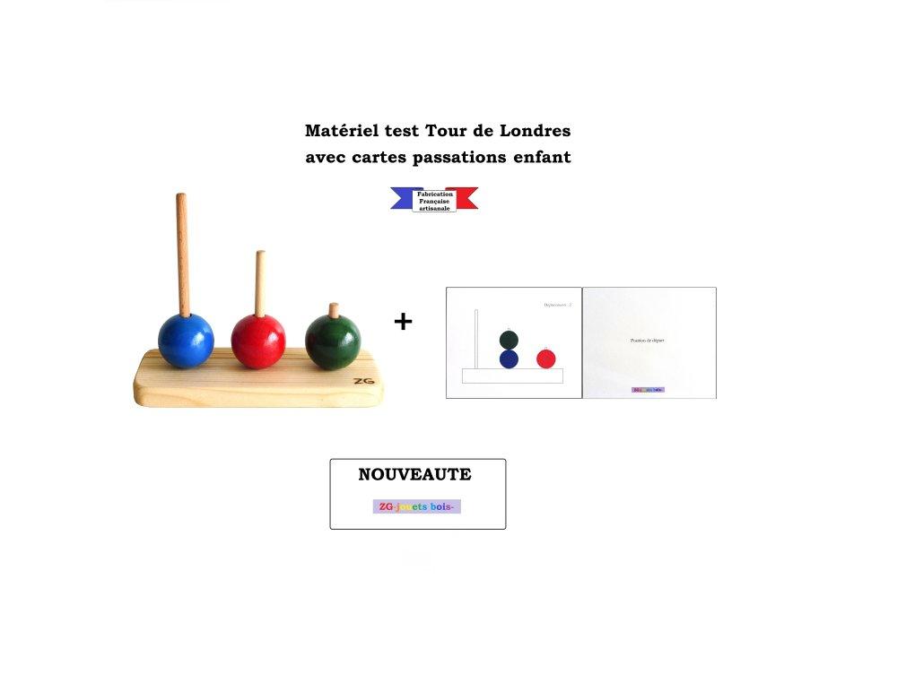 Tour de Londres et cartes de passations pour test enfant, fait main