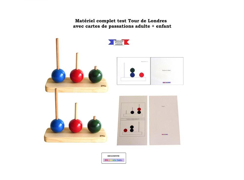 Formule complète, test Tour de Londres pour sujet adulte et enfant, fabrication artisanale Française