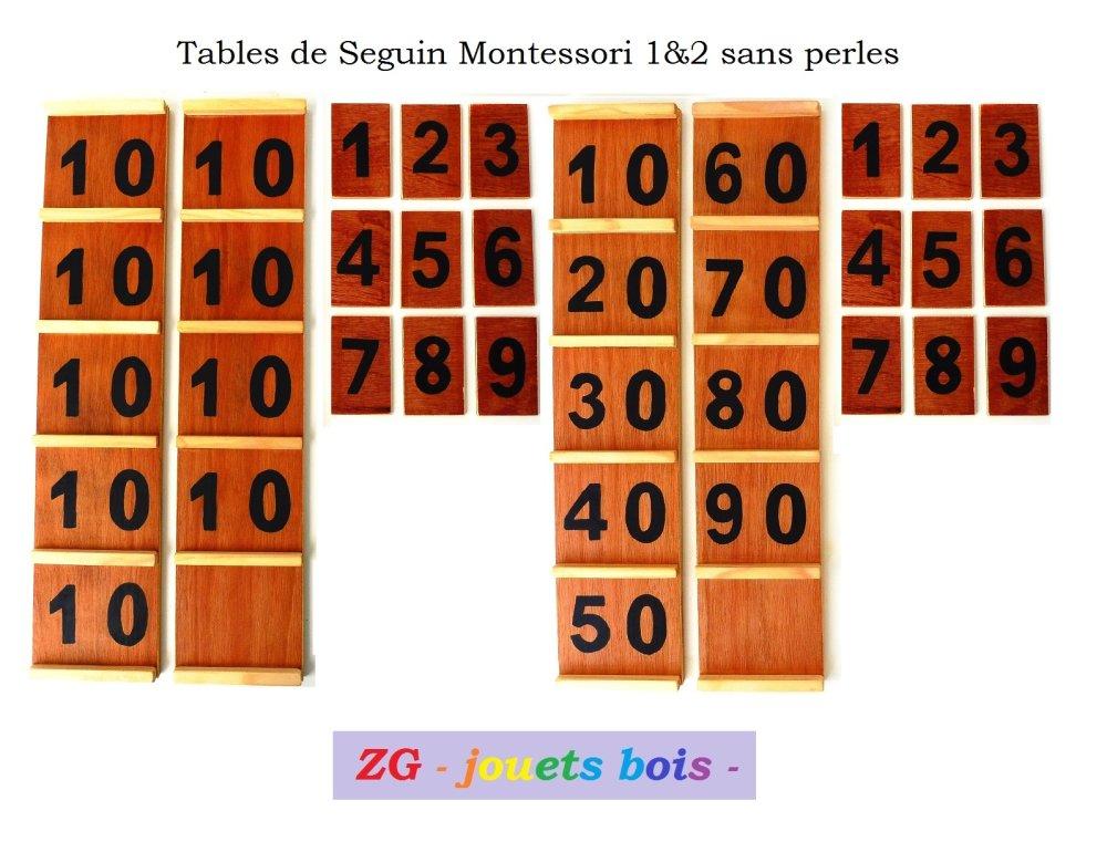 Table de Seguin 1 et 2 Montessori sans perles formule compléte