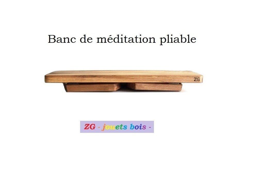 Banc de méditation pliable, en hêtre, tabouret de yoga, fait maison, prêt à l'emploi