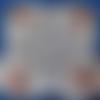 Dessous de plat puzzle motif marguerite rouge