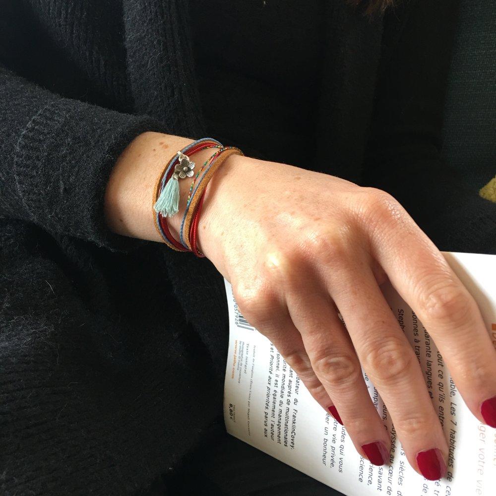 Bracelet Zingarita Woodstock, breloque personnalisable