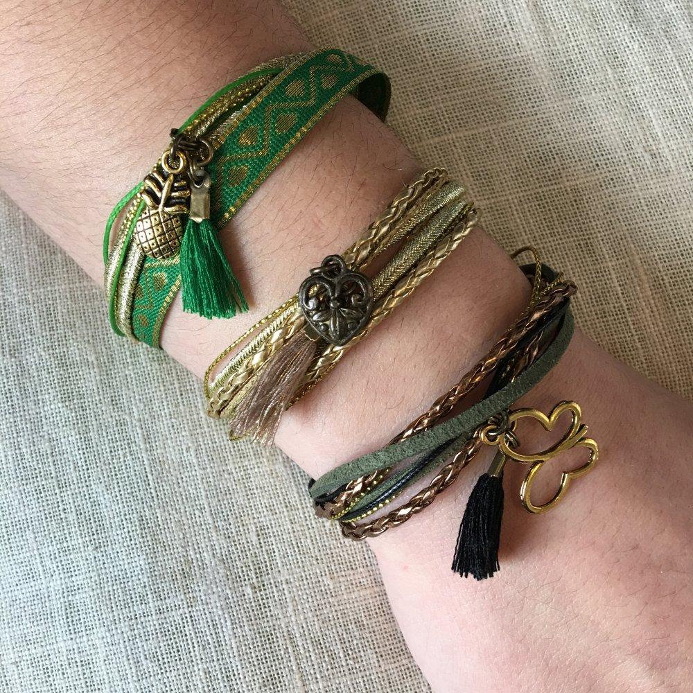 Bracelet Zingarita Jungle, breloque personnalisable