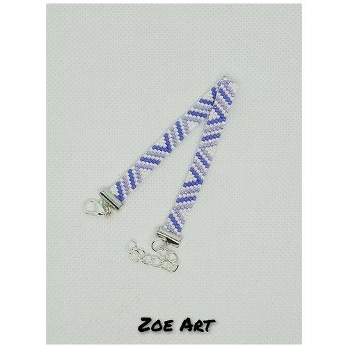 "Bracelet ""kiara"" violet et blanc en perles de verre (z21048)"