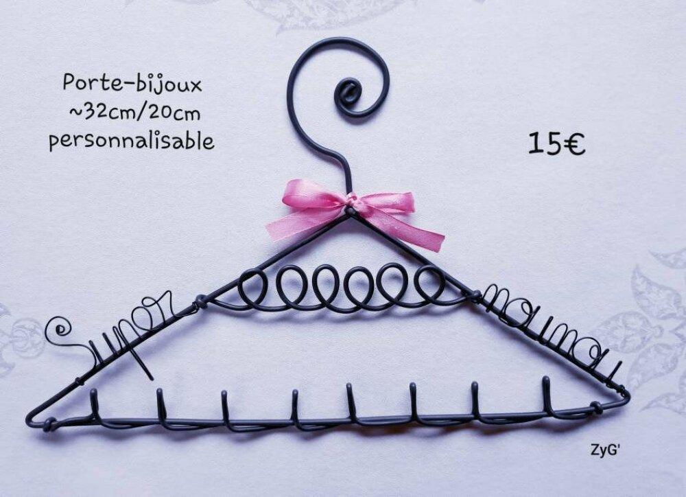 Porte-bijoux personnalisé, cintre decoration pour cadeau.