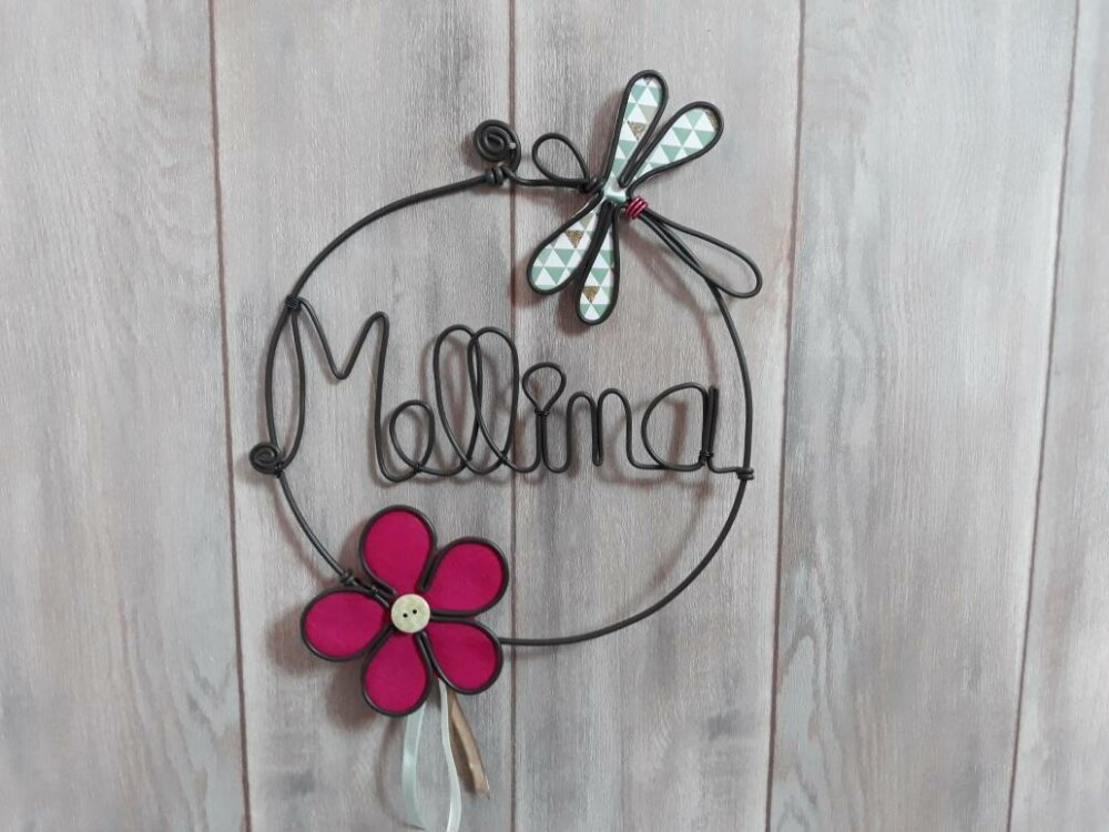 Prénom enfant, plaque de porte ou décoration murale personnalisée.