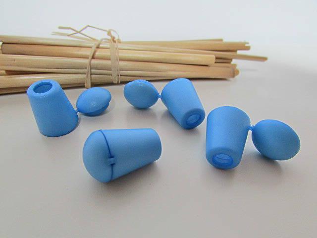 4 arrêt embout de cordon bleu - plastique - cordon de 4mm  - 2.26