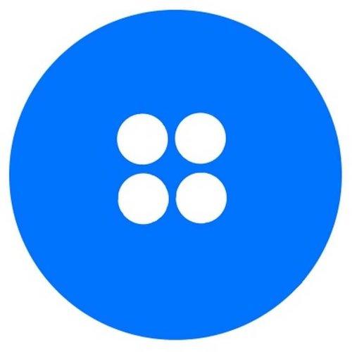 Bouton bleu