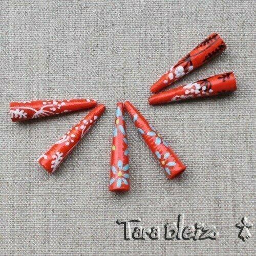 Tara bleiz - crochet, peinture et perles de papier