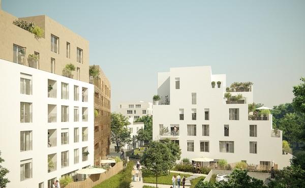 Programme immobilier villanova romainville romainville for Appartement atypique romainville
