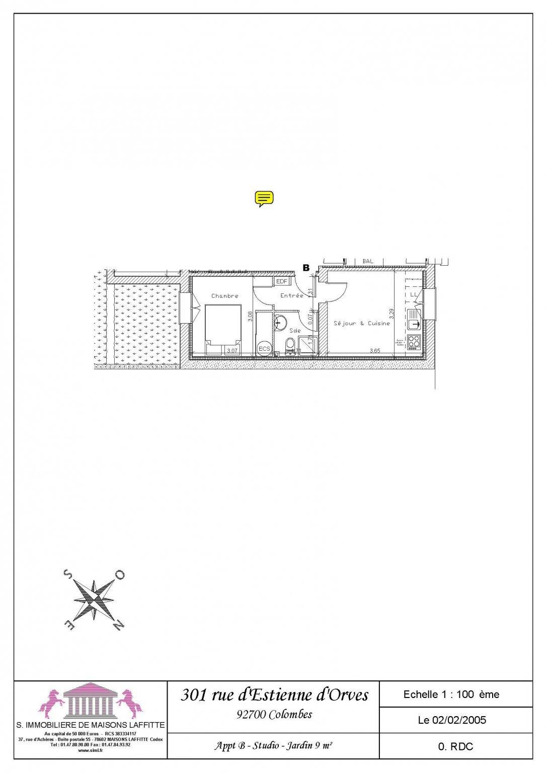 Appartement a louer colombes - 2 pièce(s) - 26 m2 - Surfyn