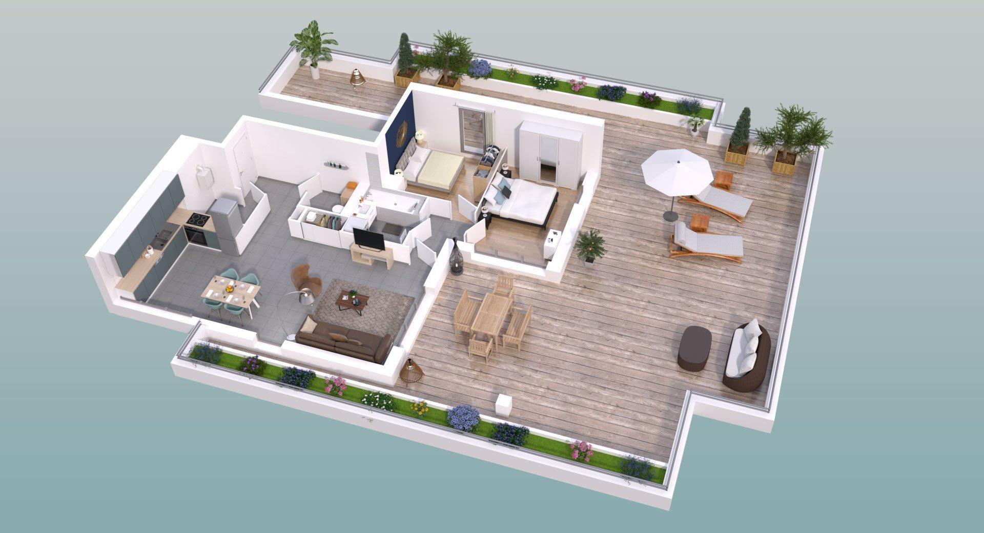 Appartement neuf 3pièces 74m² Lyon 5e