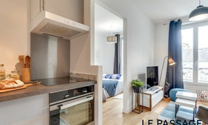Studio 21 m² Paris 19e