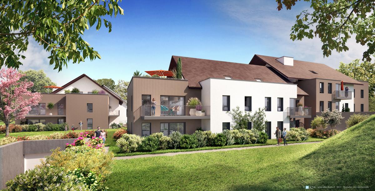 programme immobilier nature et o maxilly sur l man 32 biens neufs partir de 181 000. Black Bedroom Furniture Sets. Home Design Ideas