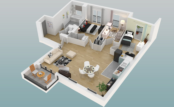 parly 2 plan appartement