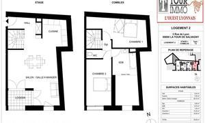 Appartement 3pièces 78m² La Tour-de-Salvagny