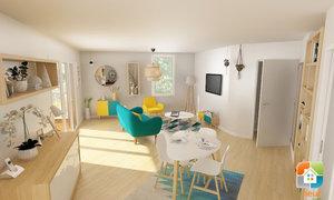 Appartement 3pièces 64m² Rennes