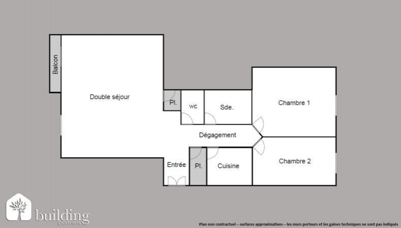 Appartement 3pièces 68m² Paris 16e
