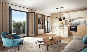 Appartement trois pièces avec balcon (3pièces, 60m²) Rueil-Malmaison