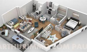Appartement 4pièces 74m² Pau