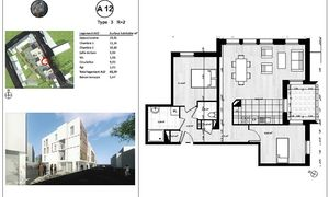 Appartement 3pièces 65m² Béthune