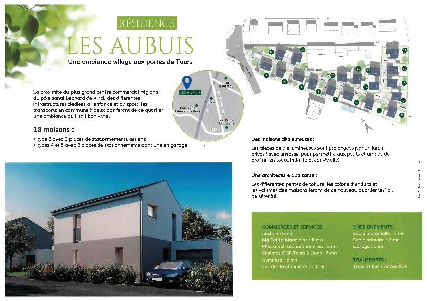 Maison neuve 4pièces 84m² Chambray-lès-Tours