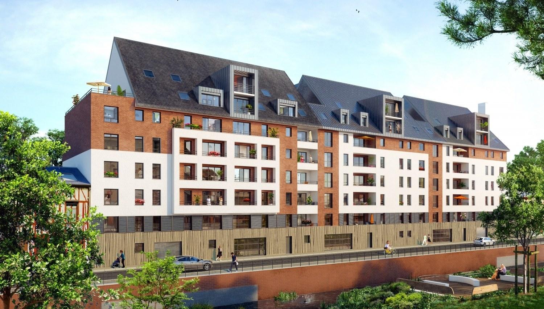 Programme immobilier les balcons de lyons rouen 1 bien for Aide achat immobilier neuf
