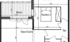 Appartement 3pièces 61m² Toulouse