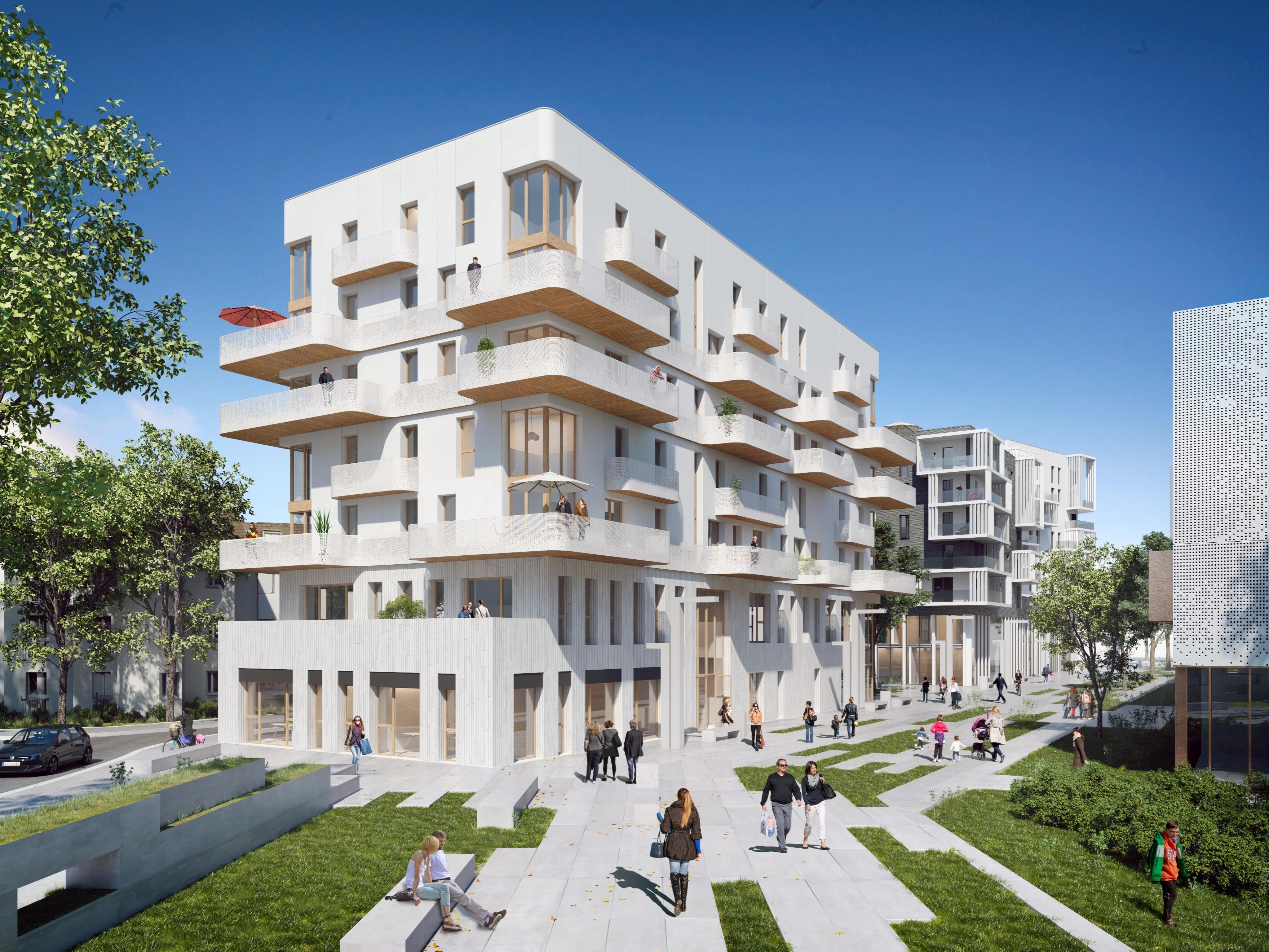 Programme immobilier villa lumea romainville 2 biens for Appartement atypique romainville