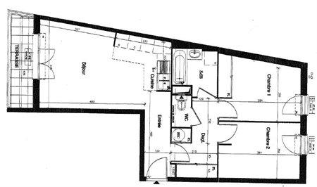 Appartement a louer nanterre - 3 pièce(s) - 59.18 m2 - Surfyn