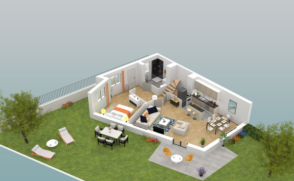 plan appartement parly 2 type 3