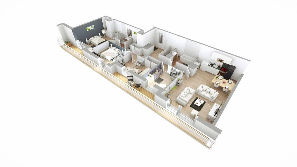 Appartement 5pièces 96m² Montreuil