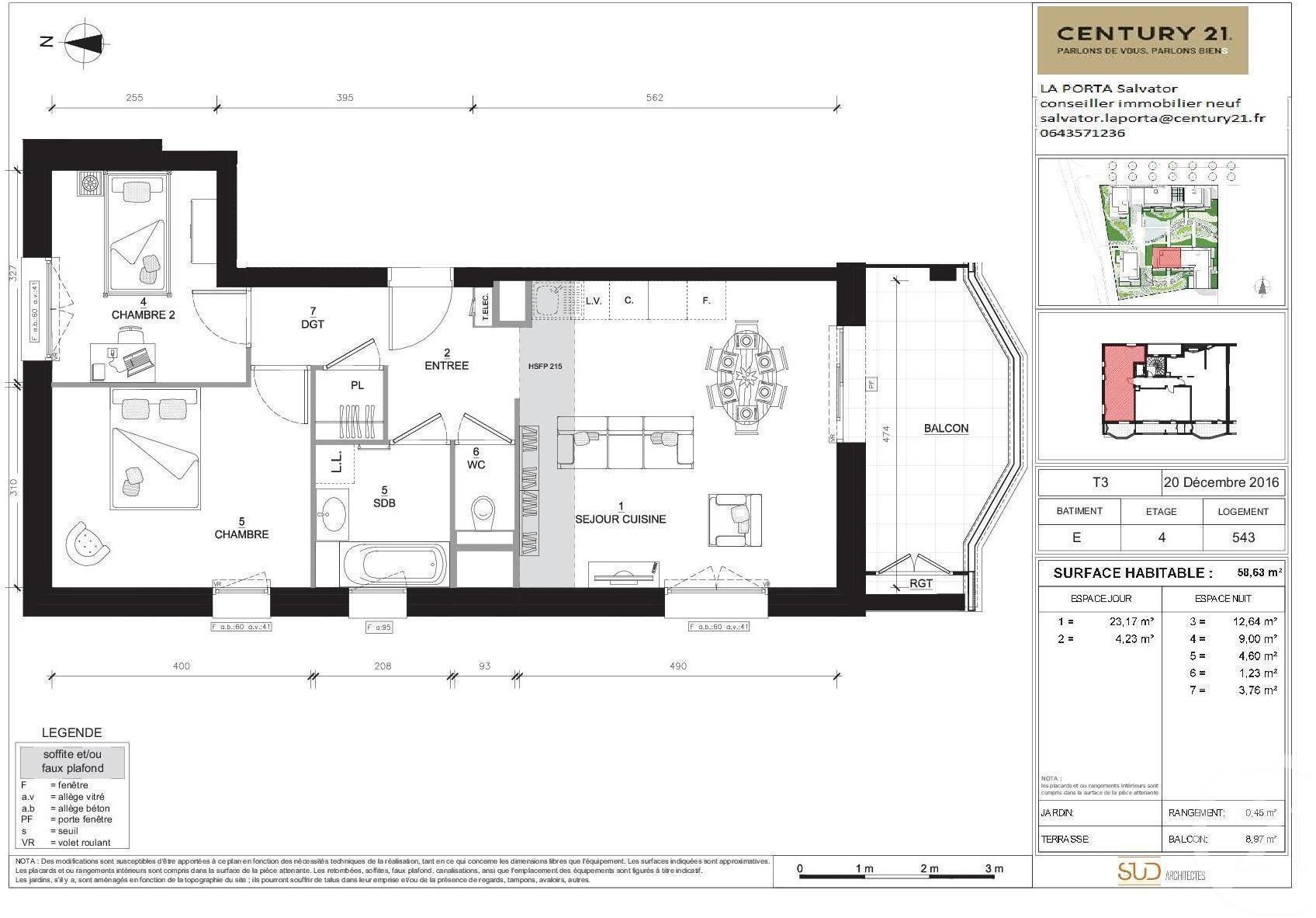 Appartement 3pièces 58m² Annecy