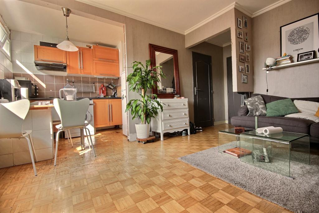 Appartement 2pièces 38m² à Paris 19e