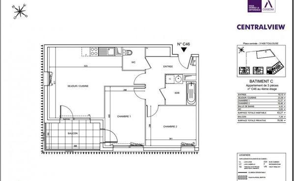 Location Appartement Toulouse Rangueil Pech David