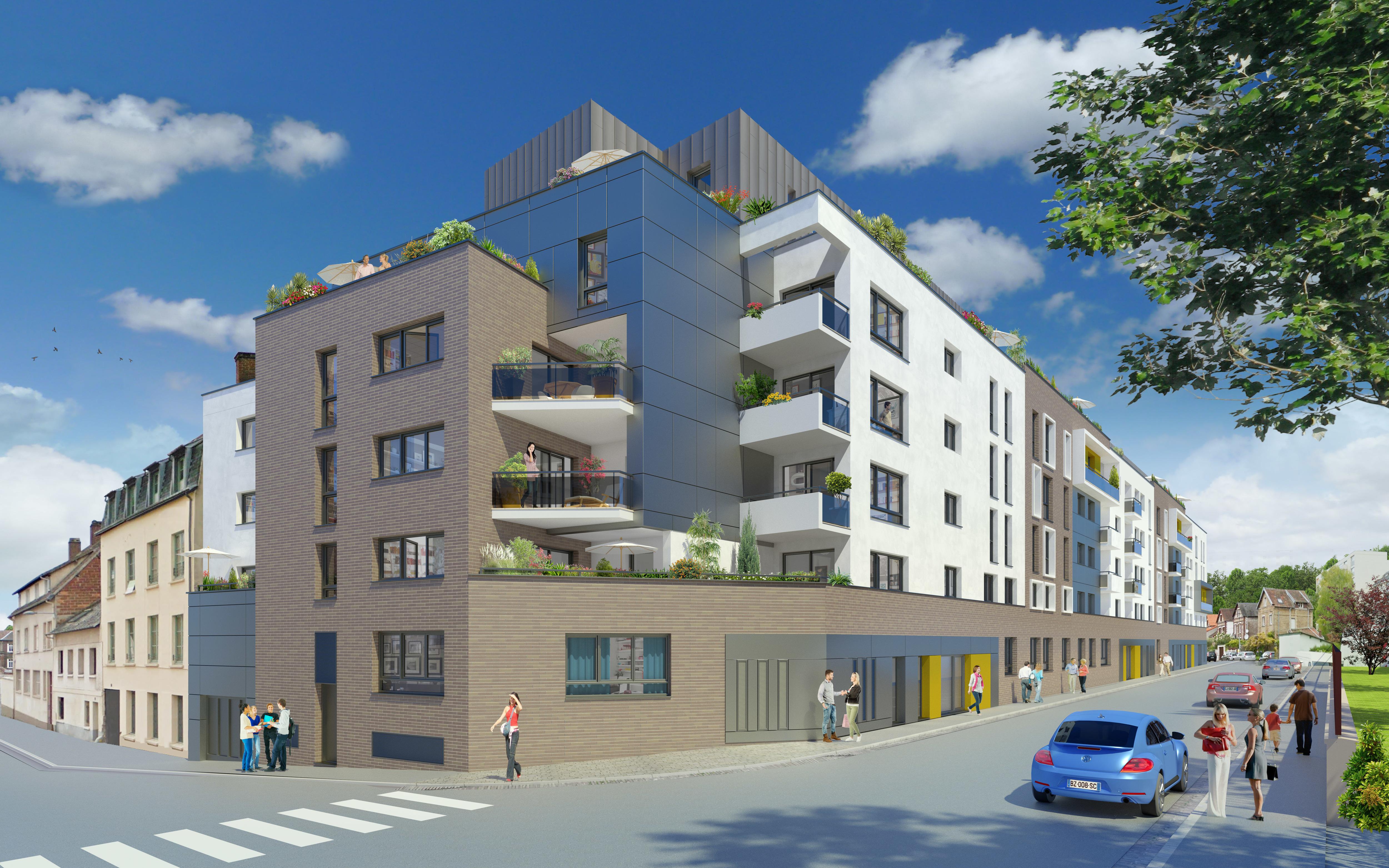 Programme immobilier plein 39 r rouen 142 000 275 000 for Programme immobilier rouen