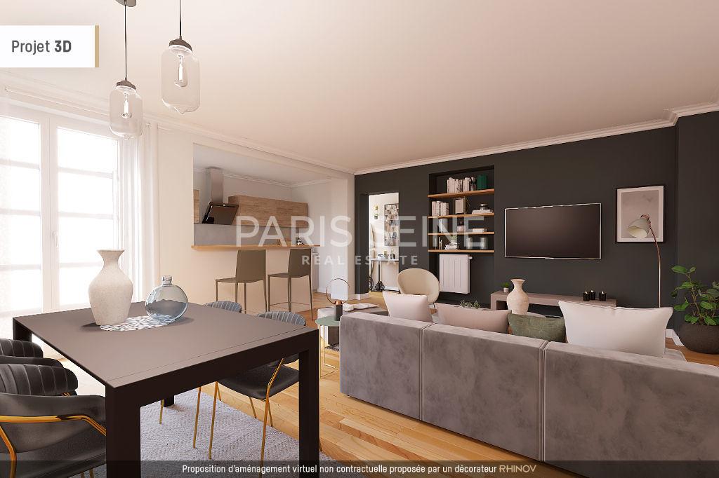 **RUE COQUILLIÈRE/BOURSE DU COMMERCE** 3 pièces de 86 m² sur cour